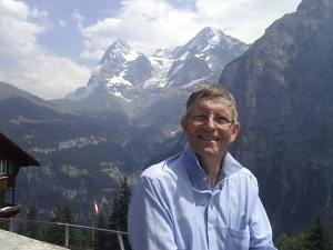 Roger Stamp enjoying holiday in the Swiss Alps Jungfrau region