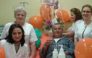Mr. Wojciech and the staff at Starogard Gdanski celebrate his 30 years
