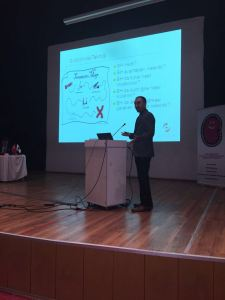 Harun Kanmaz, headnurse of Diaverum Turkey Antalya Nefroloji clinic also took an active role during the symposium. He presented the Diaverum's buttonhole technics.