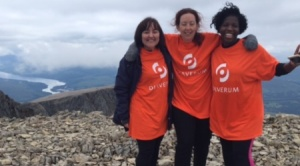 Rachel, Karla and Desiree atop Ben Nevis